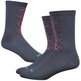 "DeFeet Aireator 6"" Chaussettes, splatter/graphite/multi colors"